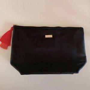Tarte black tassel makeup bag